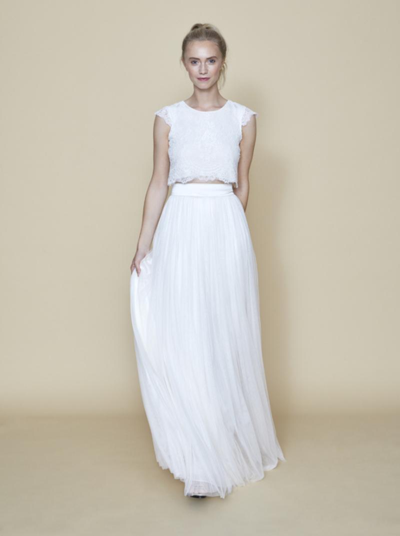 """Zweiteiliges Hochzeitskleid """"Lyra & Tivoli"""" mit Rückenausschnitt"""