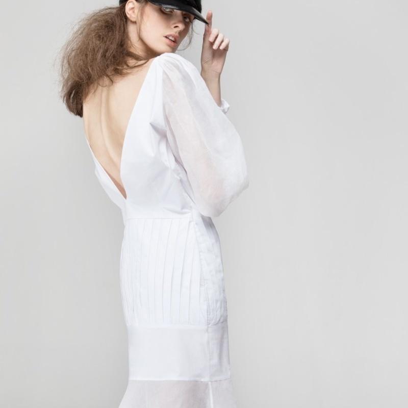cheaper 24a47 db720 Weißes langes Kleid aus ägyptischer Baumwolle aus Bukarest ...