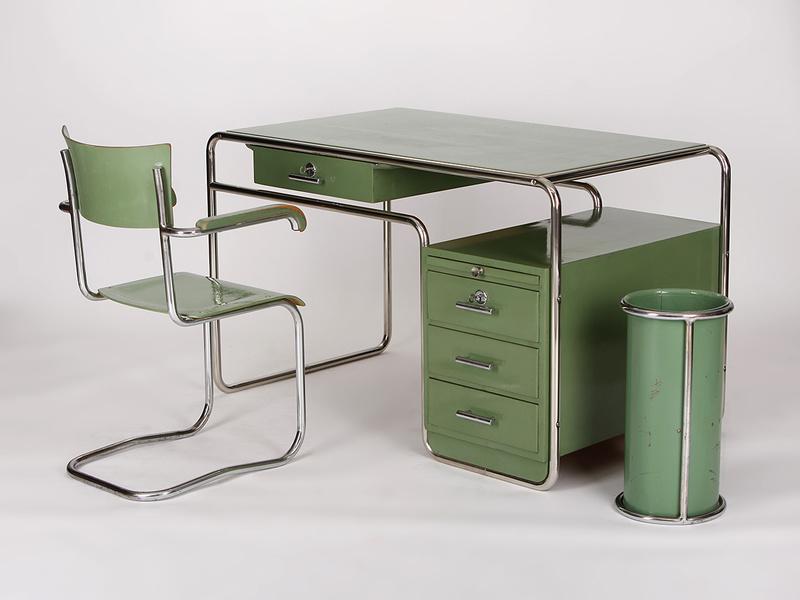 Aussergewohnliches Schreibtisch Set Aus Den 1930er Jahren Von