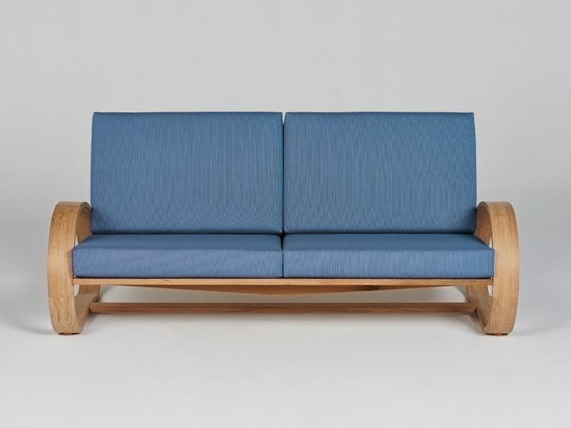 Gemütliches Sofa Aus Geölter Europäischer Eiche Aus München Auf